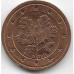 """2 евроцента. 2011 г. Германия. """"G"""". 14-3-458"""