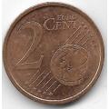 2 евроцента. 2002 г. Италия. 14-3-464