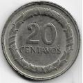 20 сентаво. 1969 г. Колумбия. Франсиско де Паула Сантандер. 14-3-480