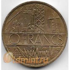 10 франков. 1977 г. Франция. 5-1-533