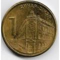 1 динар. 2009 г. Сербия. Магнитная. 18-4-249