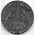 1 рупия. 2002 г. Индия. 18-5-406