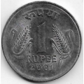 1 рупия. 2001 г. Индия. 18-5-408