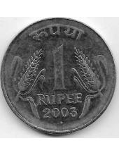 1 рупия. 2003 г. Индия. 18-5-409