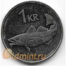 1 крона. 2006 г. Исландия. Треска. 15-2-232