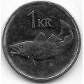 1 крона. 2011 г. Исландия. Треска. 15-2-234