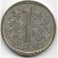1 Марка. 1965 г. Финляндия. Серебро. 9-3-362