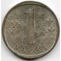1 Марка. 1966 г. Финляндия. Серебро. 9-3-364