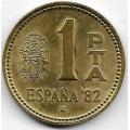 1 песета. 1980 г. Испания. (82).  Футбол-82. 1-5-295