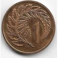 1 цент. 1971 г. Новая Зеландия. Циатея серебристая. 2-8-52
