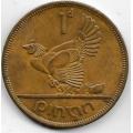 1 пенни. 1966 г. Ирландия. Домашняя курица. 3-0-71