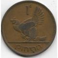 1 пенни. 1950 г. Ирландия. Домашняя курица. 3-0-72