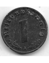 """1 рейхспфенниг. 1942 г. """"A"""". Третий Рейх. 3-4-638"""