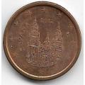 1 евроцент. 2012 г. Испания. 11-2-407