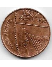 1 пенни. 2008 г. Великобритания. Новый тип. 10-4-854