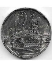 10 сентаво. 2008 г. Куба. Замок Ла Фуерза. 4-4-486