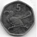 5 тхебе. 2013 г. Ботсвана. Птица-носорог. 4-2-694