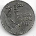 10 пенни. 1990 г. Финляндия. Ландыши. 4-1-410