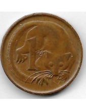 1 цент. 1966 г. Австралия. Опоссум. 20-1-1