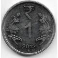 1 рупия. 2012 г. Индия. 20-1-28