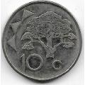 10 центов. 2009 г. Намибия. Верблюжья акация. 20-4-54