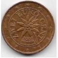 2 евроцента. 2002 г. Австрия. 20-2-36