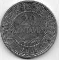 20 сентаво. 2008 г. Боливия. 20-2-67