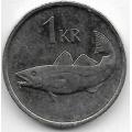 1 крона. 1996 г. Исландия. Треска. 20-3-20