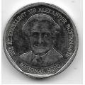 1 доллар. 2012 г. Ямайка. Вильям Александр Бустаманте. 20-3-43