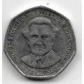 1 доллар. 1996 г. Ямайка. Вильям Александр Бустаманте. 20-3-44