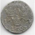 1 эре. 1692 г. Швеция. Серебро. 9-3-408