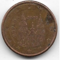 1 евроцент. 2007 г. Испания. 20-3-94