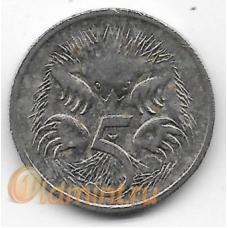 5 центов. 2006 г. Австралия. Ехидна. 10-2-694