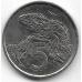 5 центов. 2002 г. Новая Зеландия. Гаттерия. 10-2-695