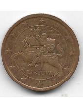 2 евроцента. 2017 г. Литва. 1-2-298