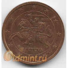 2 евроцента. 2017 г. Литва. 1-2-299