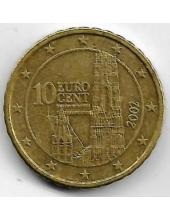 10 евроцентов. 2002 г. Австрия. 1-2-303