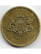 10 евроцентов. 2014 г. Латвия. 1-2-304