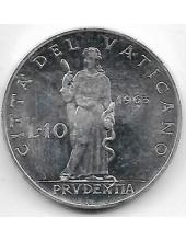10 лир. 1963 г. Ватикан. Павел VI. 1-2-306