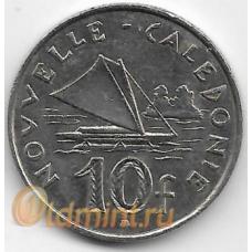 10 франков. 2008 г. Новая Каледония. Парусник. 1-2-309
