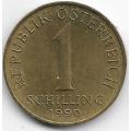 1 шиллинг. 1990 г. Австрия. Эдельвейс. 2-7-114