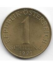 1 шиллинг. 1991 г. Австрия. Эдельвейс. 2-7-115