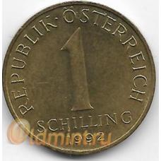 1 шиллинг. 1992 г. Австрия. Эдельвейс. 2-7-116