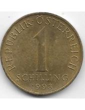 1 шиллинг. 1993 г. Австрия. Эдельвейс. 2-7-117