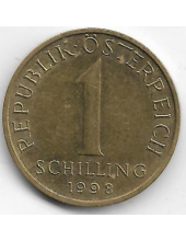 1 шиллинг. 1998 г. Австрия. Эдельвейс. 2-7-122