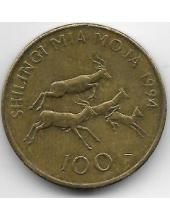 100 шиллингов. 1994 г. Танзания. Импала. 6-3-617