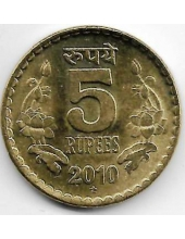 5 рупий. 2010 г. Индия. 20-1-114