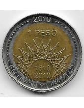 1 песо. 2010 г. Аргентина. 200-летие ледника Перито-Морено. 20-1-117