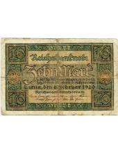 Германия. 10 марок. 1920 г. Б-2320