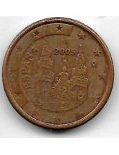 1 евроцент. 2005 г. Испания. Собор Св. Иакова. 20-4-126